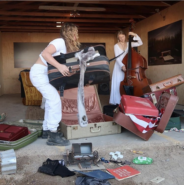Rachel Libeskind performing Travelling Bag at Bombay Beach Biennial 2018 California