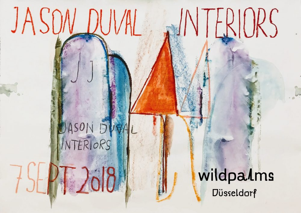 Jason DUval Interiors show at wildpalms' new gallery space in Düsseldorf