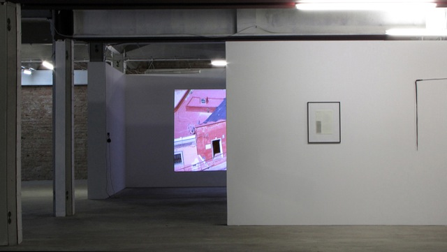 Mario Asef argentinian artist, exhibition view at wildpalms Berlin. Video
