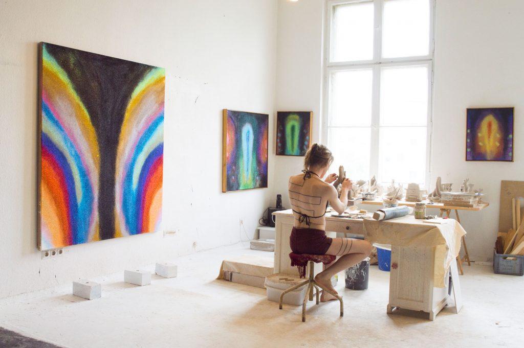 Nika Fontaine at her studio wildpalms