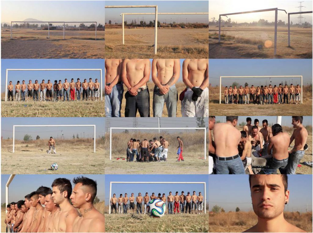 Screenshot of Mauricio Limon video sports politics, soccer and society with young males in Mexico