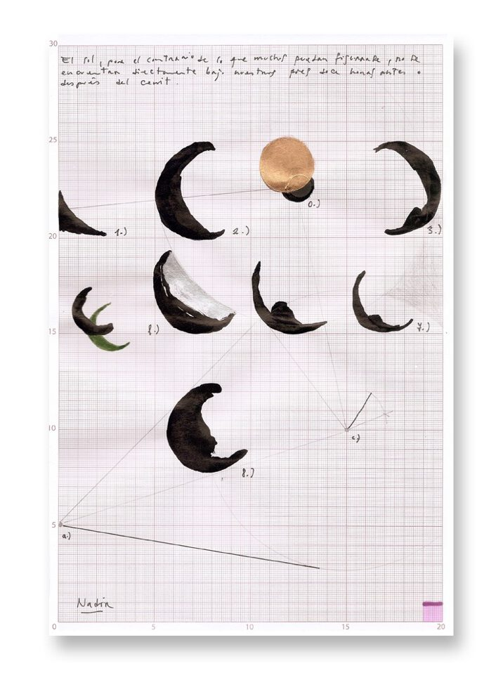 Mario Asef argentinian artist Drawing  cenit02-schatten-k at wildpalms  Astronomy and eclipse