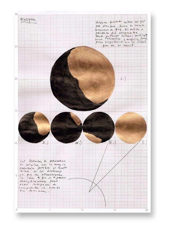 Drawing Mario Asef cenit03-schatten-k at wildpalms. Astronomy and eclipse
