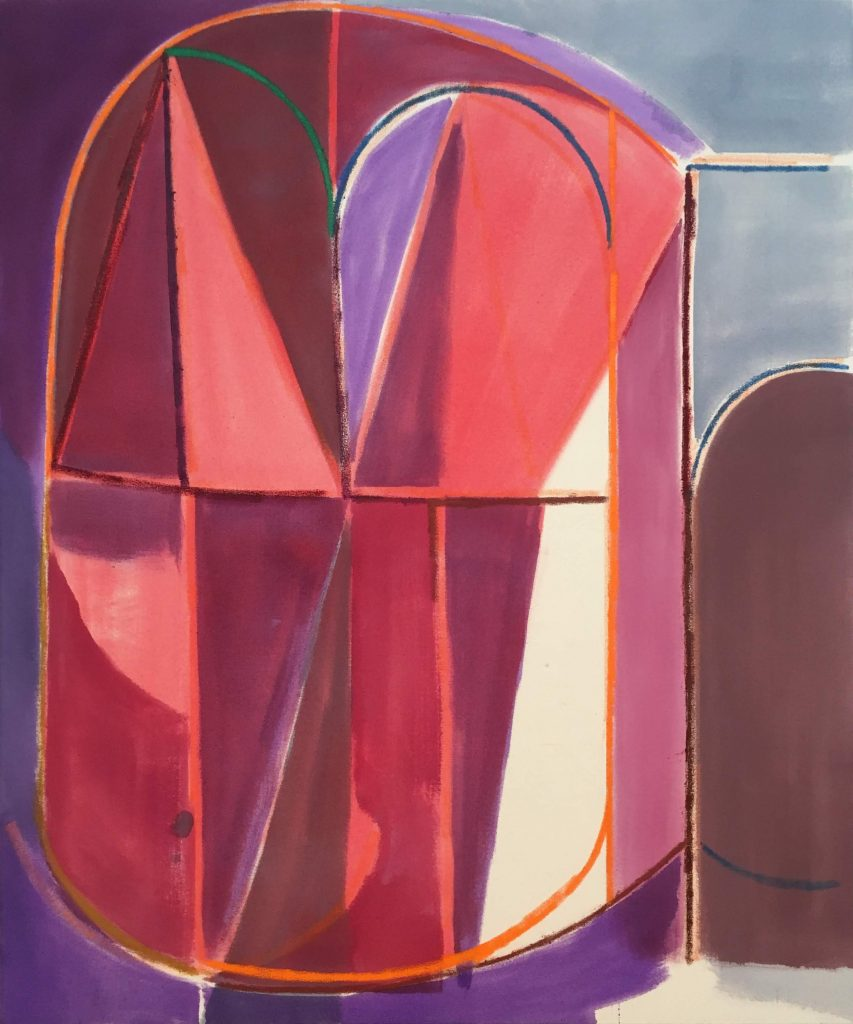 Jason Duval abstract geometric painting wildpalms