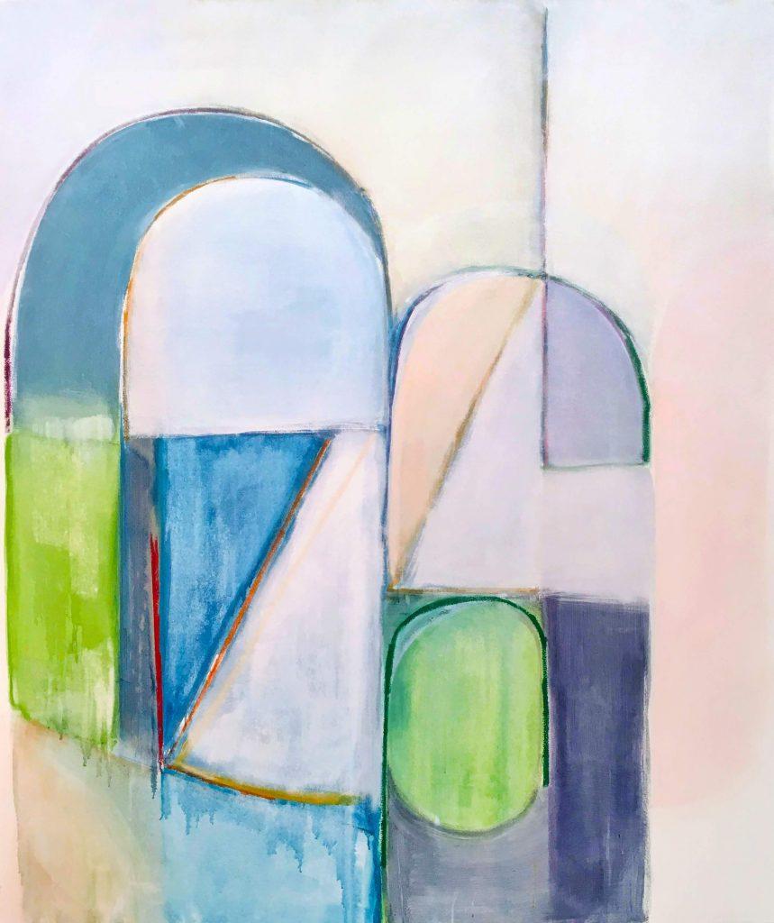 Jason Duval abstrakt geometric painting wildpalms