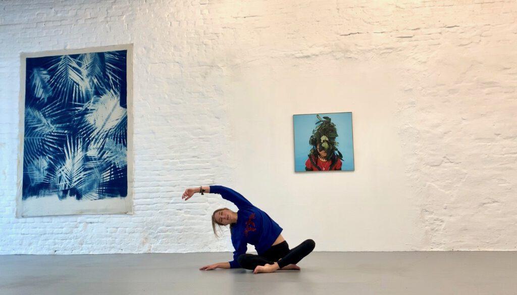 strala yoga flow at wildpalms exhibition passage